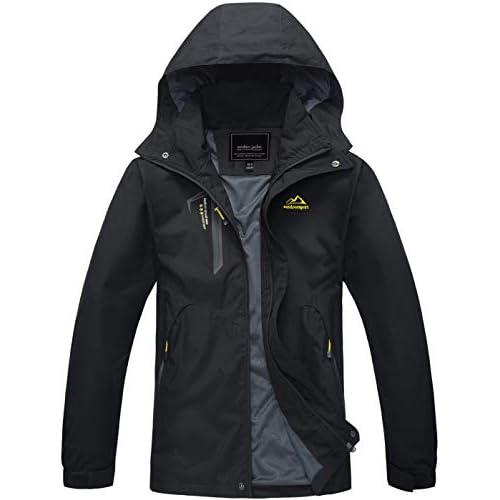 TACVASEN Women's Water-Resistant Lightweight Sports Mountain Jacket with Hood