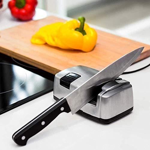 ZKZK Cote Cucina elettrica Coltello Affilatrici, for affilare i coltelli, Strumento Consente di Riparazione, ripristino, Polacco Lame a Molla Meccanismo Pins Ceramic Design in Acciaio Inossidabile