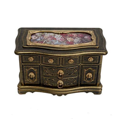 Yuanjiashop Spieldosen Klassische Schmuck-Organisator-Fall for Ringe/Ohrringe, Ballerina Music Box (Schloss im Himmel), Vintage-Spieldosen, Personalizable Geschenk