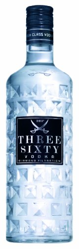 Three Sixty Wodka 6 x 1 Liter Sparpaket Vodka