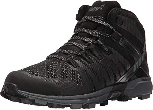 Inov-8 Women's Roclite 325 Trail Runner, Black/Grey, 6 D US