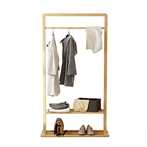 FFF-Coat rack Massivholz Kleiderständer Walnut Storage Hanger Boden Kleiderständer Wohnzimmer Schlafzimmer Holz Farbe (größe : 64cm)