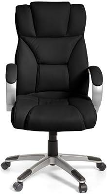 JUSTyou R-155 Sillón Silla de escritorio de oficina Negro