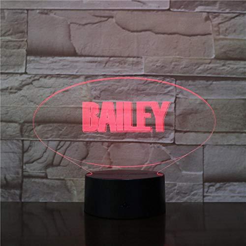 Lámpara 3D con logotipo de estrella famosa atmosfera funciona con pilas que cambia de color para la decoración de la sala de estar LED de luz de noche Onlymygod