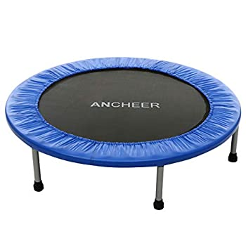 ANCHEER Rebounder Trampoline 38/40 Inch for Adults and Kids Foldable Mini Fitness Rebounder Trampoline with Safety Pad for Indoor Garden Workout Cardio Training Max Load 220lbs