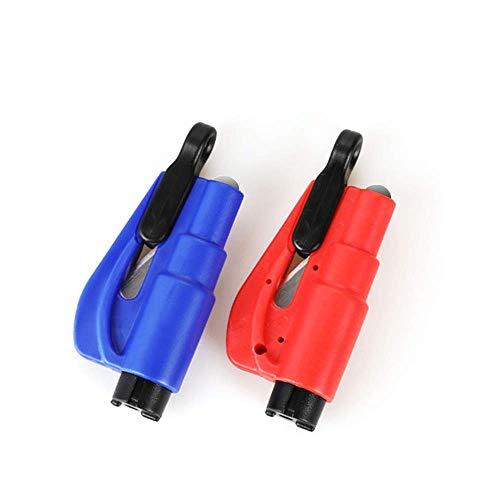 1pcs Mini 3 en 1 herramienta de rescate de emergencia de seguridad Mini coche Auto ventana rompiendo martillo con llavero cinturón cuchillo Cutter