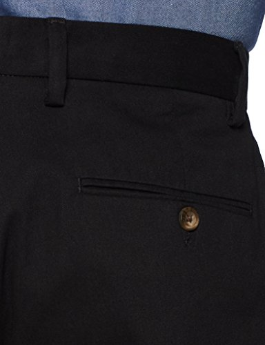 Amazon Essentials Classic-Fit Wrinkle-Resistant Flat-Front Chino Pant True Black), 35W x 28L