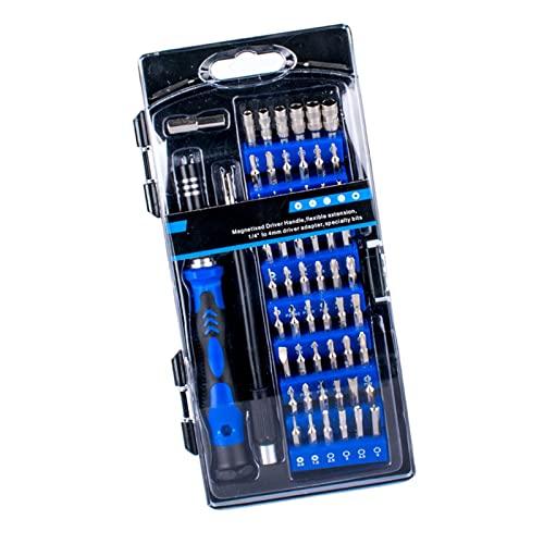 B Blesiya Juego de Destornilladores de precisión de 58 Piezas en 1, Herramientas de reparación de Bricolaje, Profesional, Kit de Puntas de Destornillador