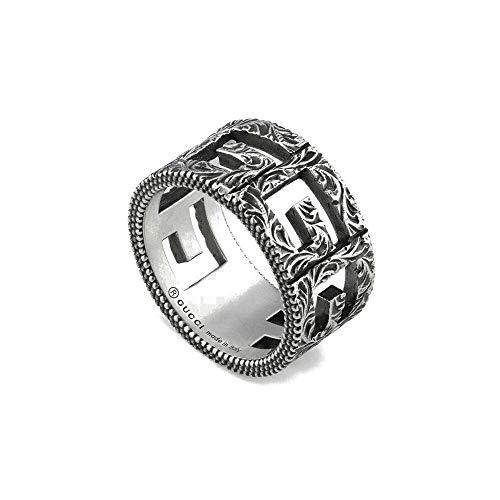 Gucci Anillo de plata con G cuadrada YBC551918001015