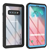 Punkcase S10 Waterproof Case [Extreme Series] [Slim Fit] [IP68 Certified] [Shockproof] [Dirtproof] [Snowproof] Armor Cover Compatible W/Samsung Galaxy S10 [Blue]