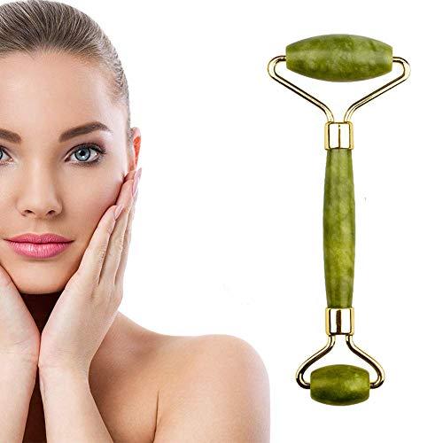 Rullo massaggiante per il viso, rassodante, rilassante e rilassante per la pelle, perfetto strumento anti-invecchiamento per il viso e la rimozione delle rughe del collo (verde)