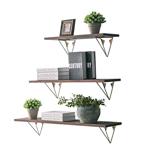 ZEQUAN Wall Decoration Solid Wood Wall Storage Rack Wall Hanging for Living Room Bedroom Flower stand
