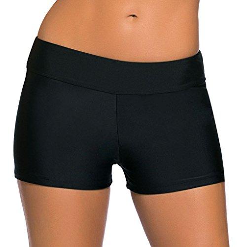 La vogue Damen Badeshorts Bikinihose Beach Shorts Hotpants Schwarz XL Taille 88-96cm