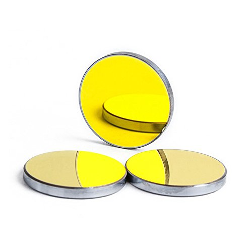 Cloudray 3PCS CO2 Laser Mirrors Si Material Dia.25mm 0.98inch, Thk 3mm 0.12inch for CO2 Laser Engraver Cutter
