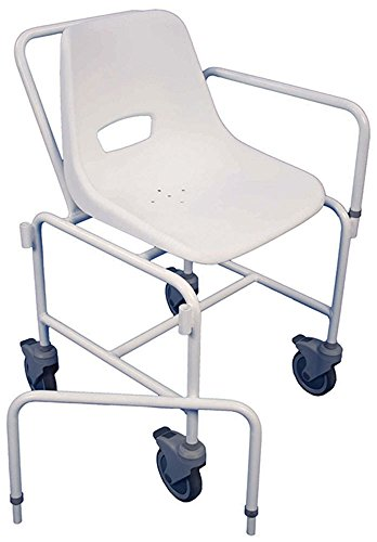 Aidapt Charing Attendant Propelled Shower Chair (Eligible for VAT relief in the UK)