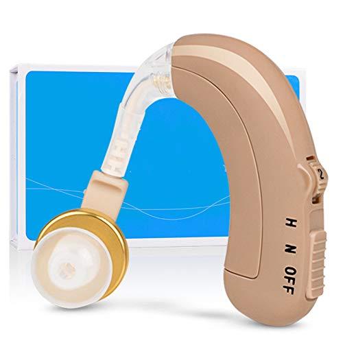 BJ&HH Audífono Bluetooth Carga Altavoz De Voz para Sordos Ancianos Sordos Micro BTE Amplificador Invisible Adecuado para Personas Mayores con Pérdida Auditiva,Flesh