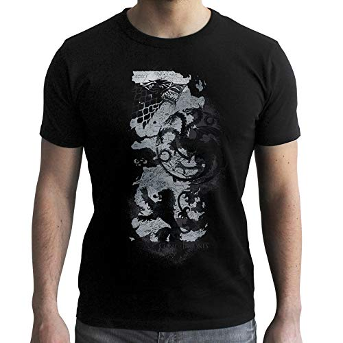 ABYstyle - Game of Thrones - Tshirt - Carte - Homme - Black (L)