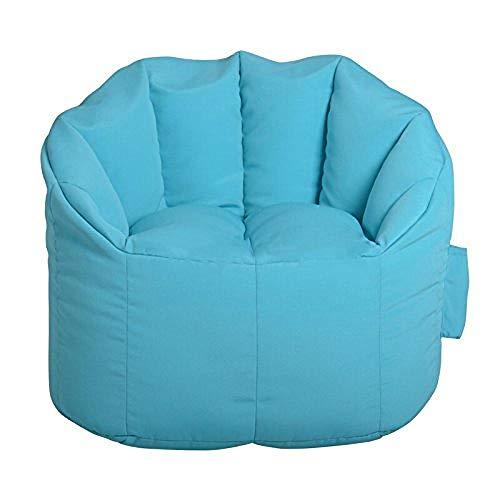 Luie stoel, luie bank Enkele moderne minimalistische stoffen bank Kinder stoffen vloerstoel, zachte tas Luie bank (blauw)