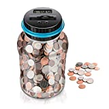 Megac Digital Coin Big Piggy Bank - Automatic Display, Digital Counting Money Jar for Kids Friends Adults Boys Girls as Gift On Christmas,New Year's,Birthday
