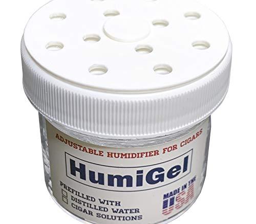 HumiGel Humidity Booster Cigar humidor humidifier | Adjustable fine-Tune 65%-75% Humidity | Crystal Gel, 2 oz jar | Can use for humidor Seasoning | Made in USA | Humi Gel Cigar humidifiers