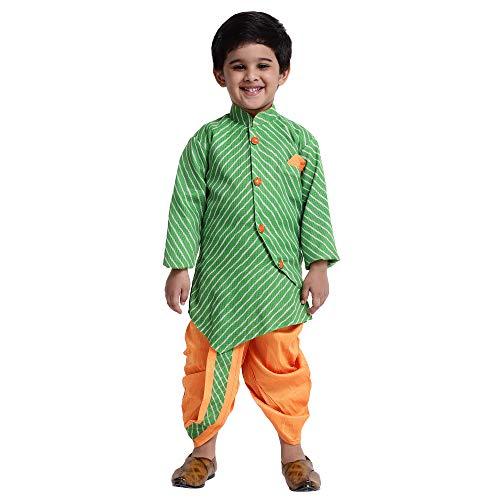 BownBee Boys Leheria Sherwani Style Dhoti Kurta
