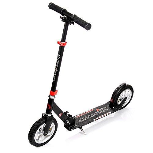 meteor® Cruiser Scooter : Big Wheel 200 Kickscooter Tret-Roller, Stunt Scooter klappbar, Erwachsene & Kinderroller, Sehr langlebig - bis zu 100 Kg, gepumpte Räder