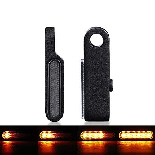 2 / 4PCS Indicadores de lámpara de señal de motocicleta Ámbar Agua que fluye Luz de señal de giro LED para Cafe Racer Apto para scooter Apto para ATV Motobike DC 12V-2pcs_Black