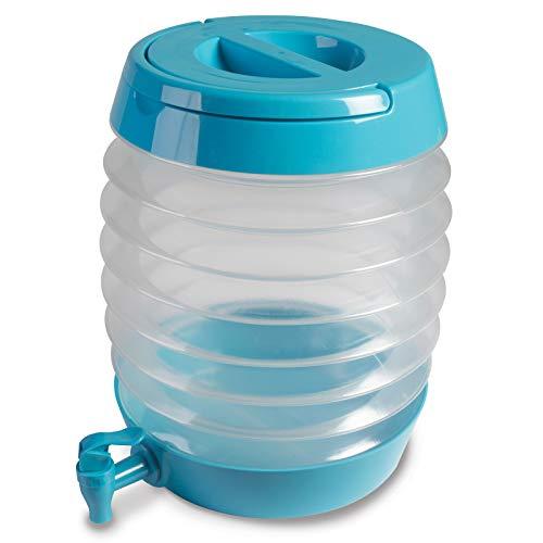 Kanister 7,5 Liter Wasserkanister Faltkanister Camping Wassertank Faltbar Kunststoff Kanister Tank Plastik Behälter Wasserbehälter Outdoor Wasserkanister Tragbar Ablaßhahn Ausgießer Camping Zubehör