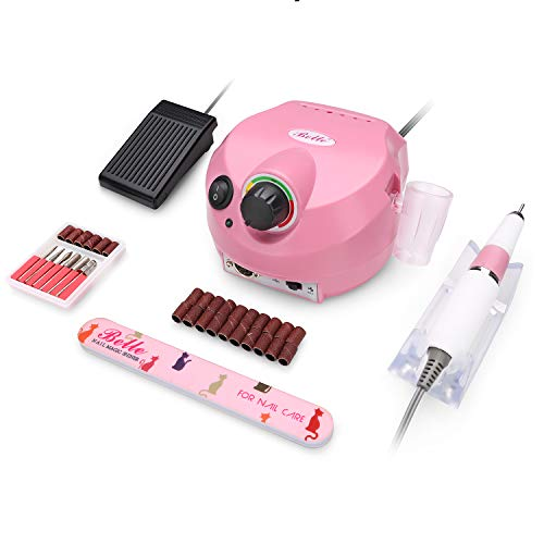 Belle Professional 30000RPM Electric Manicure Nail Drill File Machine Set for Acrylic Gel Nails