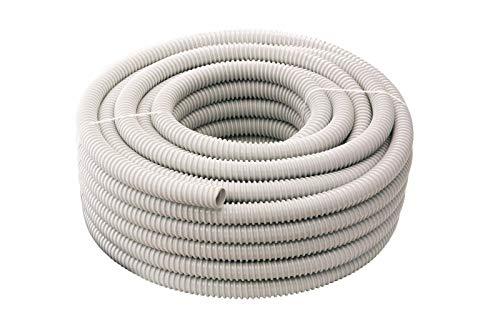 10 metros de tubo en espiral flexible de PVC gris de 16...