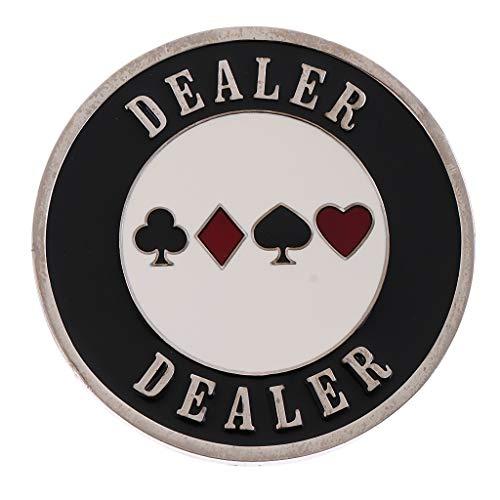 TX NIÑA Botón Distribuidor Autorizado del Casino Poker Viruta del Distribuidor Autorizado De La Serie Mundial For All-Suite Hotel & Casino Las Vegas Metal (Size : 5.5cm/2.17inch)