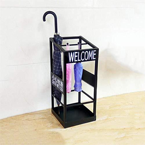 WEIZI Portaombrelli per la casa Creativa Portaoggetti personalità Porta d'ingresso per Hotel Portaombrelli Semplice Nero 22 * 22 * 55 cm