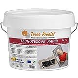 TECNO YESO RAPID de Tecno Prodist, (12 Kg) Yeso de fraguado rápido. Ideal para sujeción ...
