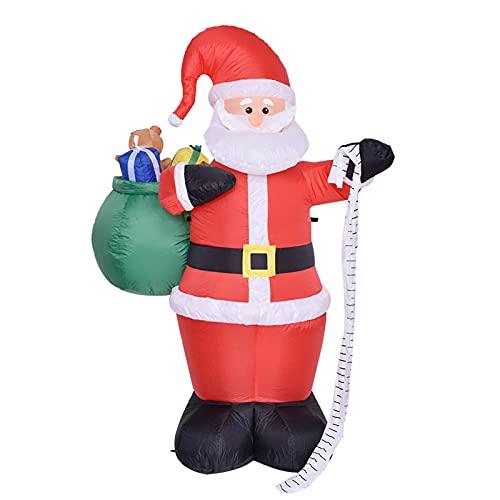 decorazioni natalizie da esterno Gusengo Babbo Natale Gonfiabile Natale Decorazione da Esterno Gonfiabile - Decorazione Natalizia da Giardino All'aperto Gonfiabile con Luci A LED per Decorazioni All'aperto