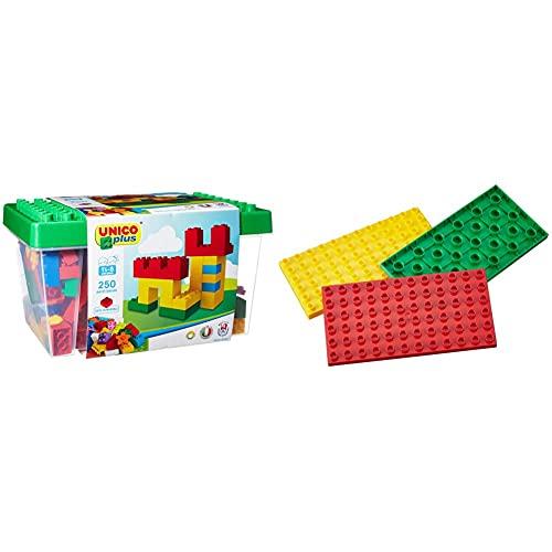 Unico Plus 8525 - Caja con Bloques de construcción (250 Piezas) + Desconocido Juego de construcción para niños
