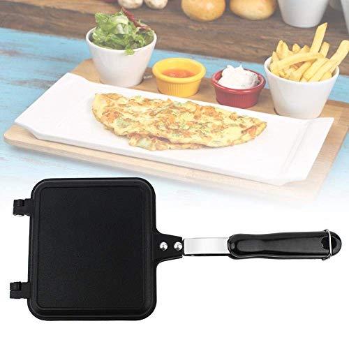 1yess Zweiseitige Antihaft-Sandwich Maker Eisen Brot Toast Frühstücksmaschine Waffel Pfannkuchen Backen Grill Grill Bratpfanne