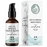 Ocean Mineral Facial Moisturizer - Natural & Organic, Anti Aging Hydration for all Skin Types - Seaweed Bio-Complex - Enhanced Formula by Foxbrim Naturals 2 oz