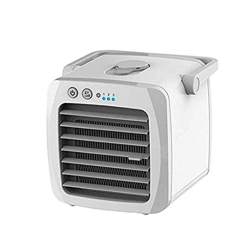 GONGFF USB Charging Air Conditioner Fan Mini Portable Air Cooler Small Home Office Air Conditioning