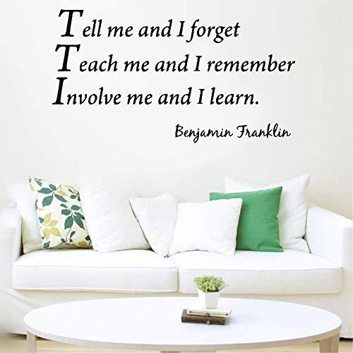 pegatinas de pared buhos pegatinas de pared personalizadas Dime y olvido Enseñame y recuerdo Involúcrame y aprendo para el aula