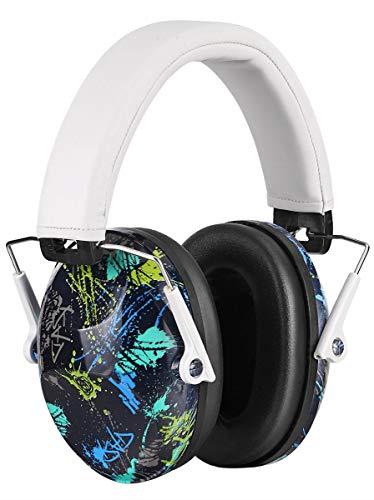 PROHEAR 032 Bunt Gehörschutz Kinder, mit SNR 29dB Hörschutz, faltbaren und bequemen Lärmschutz Kopfhörern mit tragbarer Tasche, für Schule, Feuerwerk, Flugshows von 1 bis 18 Jahren(weiß)