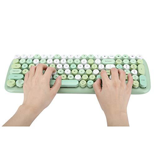 EBTOOLS1 Multi Device Tastatur, Drahtlose Keyboard, Wireless Tastatur, Bluetooth 5.1, 100 Tastenabdeckung, für PC, Laptop, Tablet, Mobiltelefon(Bunt)
