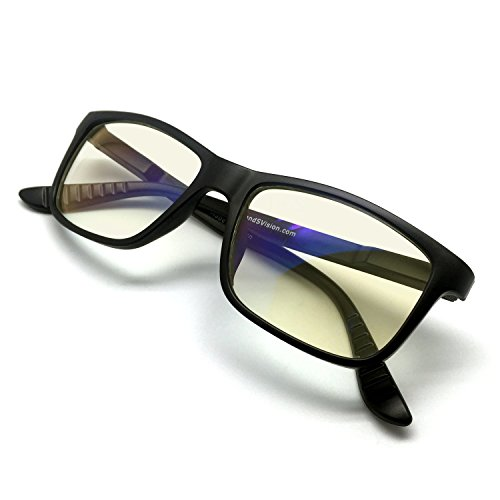 J+S Vision Blue Light Shield Computer Reading/Gaming Glasses - 0.0 Magnification - Anti Blue Light...