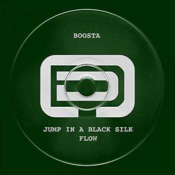 Jump in a Black Silk Flow