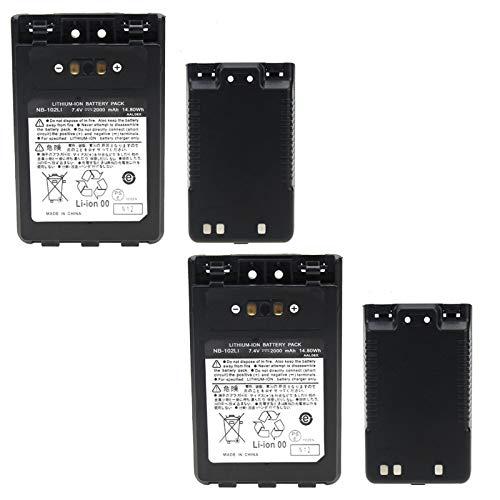Best Price 2 Pcs Rechargable Li-ion Battery for FT-1DR FT-2DR Radio FNB-102LI FNB-101Li, Walkie Talk...