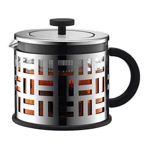 Bodum Eileen teiera in Vetro per la Preparazione del tè 1,5 L Acciaio Inossidabile, Trasparente