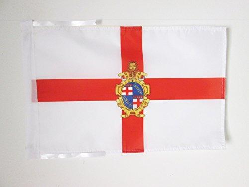 AZ FLAG Bandera de BOLONIA con Armas 45x30cm - BANDERINA BOLONIA EN Emilia-ROMAÑA 30 x 45 cm cordeles