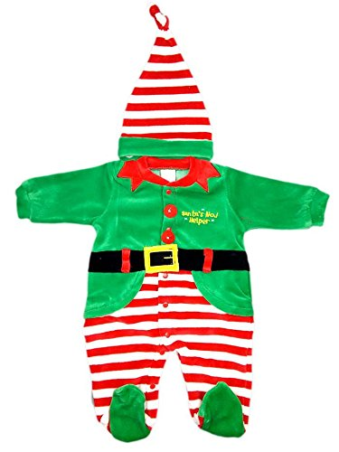 Tuta tutina vestito abito Folletto Elfo o Babbo Natale ciniglia bimba o bimbo neonato Irge scelta modello e taglia 0-3mesi 3-6mesi 6-9mesi