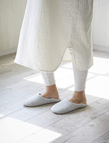 洗えるルームシューズ(シューズバッグ付き)綿100%日本製blissful(ミックスネイビー)