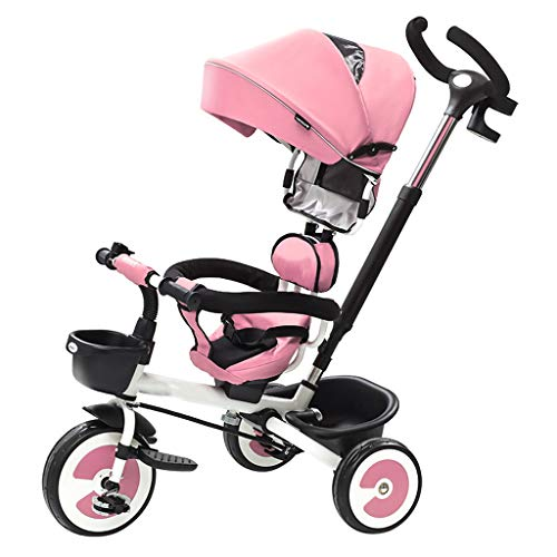 Purchase Folding Children's Tricycle 1-3-6 Years Old Bicycle Stroller Baby Stroller Slip Baby Artifa...