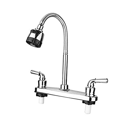 RV Kitchen Faucet Non-Metallic, Flexible Spout for Campers, Motorhomes, Travel Trailers by JAKARDA